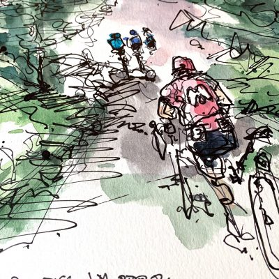 Giro Stage 16 | Mortirolo 2 | Original Cycling Art