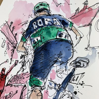 Giro Stage 12 | Benedetti | Original Cycling Art