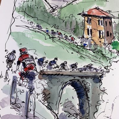 Giro Stage 14 | Saint Vincent |Original Cycling Art