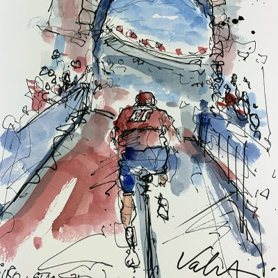 Giro Stage 21 | Entrance | Original Cycling Art