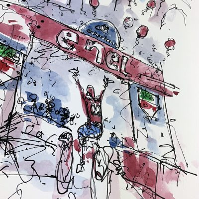 Giro Stage 21 | Finish | Original Cycling Art