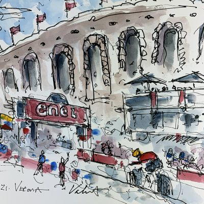 Giro Stage 21 | Verona | Original Cycling Art