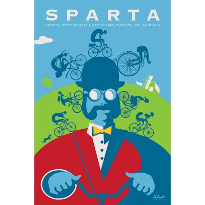 Sparta Ben | Cycling Art Print