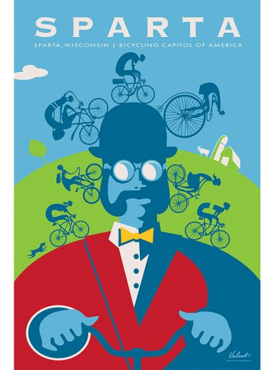 Sparta Ben Cycling Art Print | Valenti