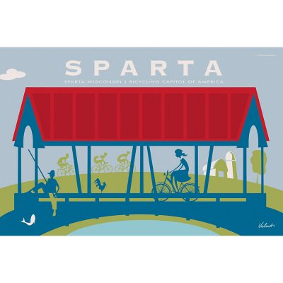 Sparta Bridge | Cycling Art Print