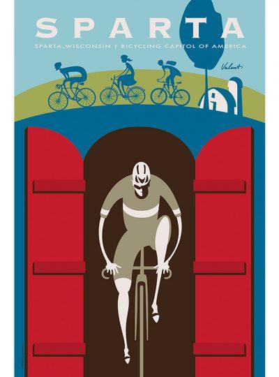 Sparta Tunnel Cycling Art Print | Valenti