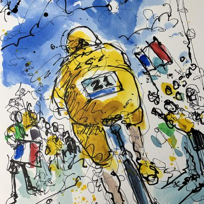 TdF Stage 13 | Original Cycling Art | Alaphilippe ITT