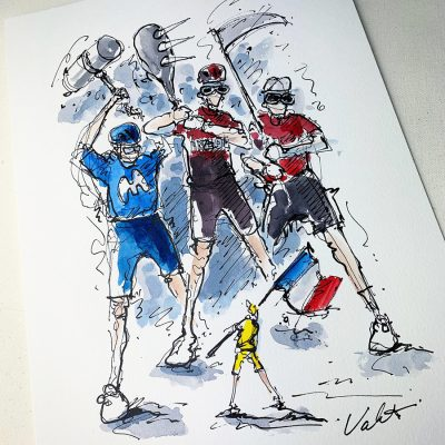 TdF Stage 19 | Original Cycling Art | Battle
