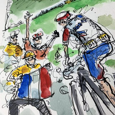 TdF Stage 14 | Original Cycling Art | Pinot