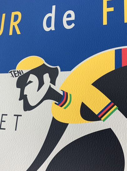 Tour de France cycling art print, Brussels to Paris 2019