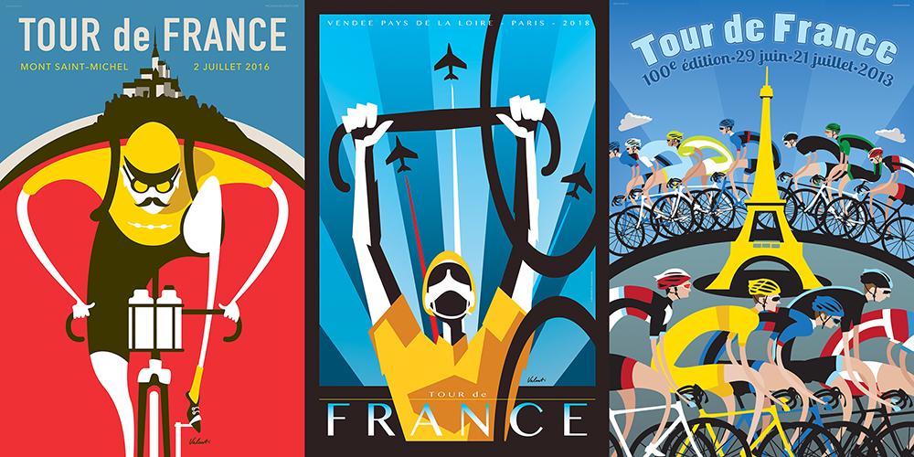 Tour de France_Michael Valenti home page art