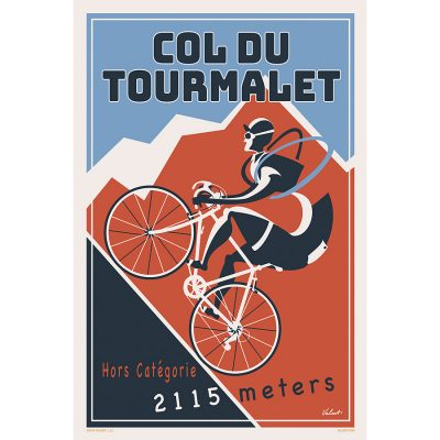 Tourmalet 2019 | Blue | Cycling Art Print