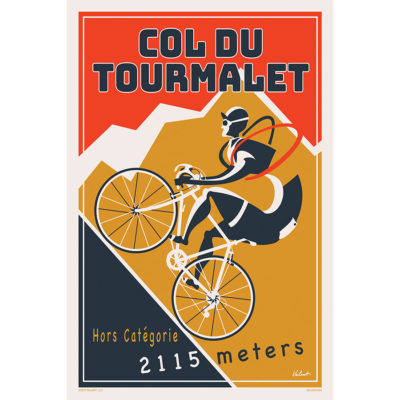Tourmalet 2019 | Red | Cycling Art Print