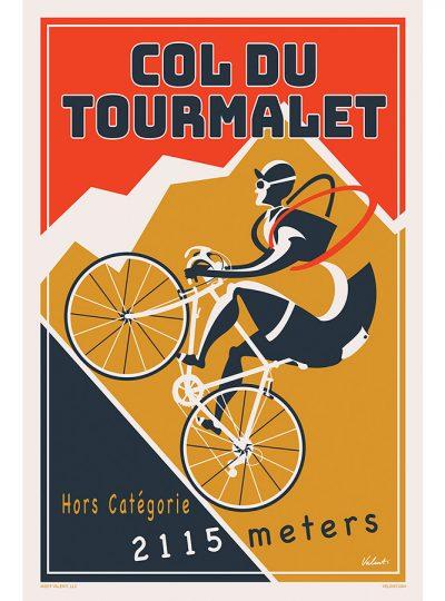 Tourmalet 2019 | Red | Cycling Art Print