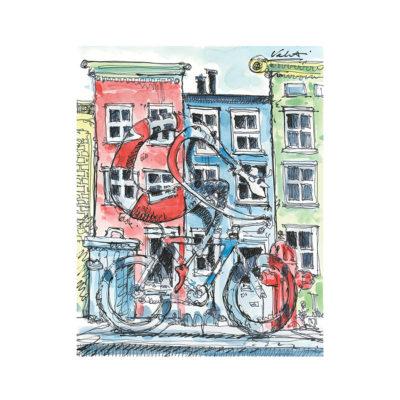 City Ride Cycling Art