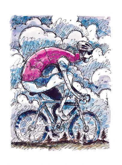 Rain Ride | Valenti Cycling Art Print