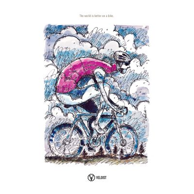 Rain Ride | Cycling Art Print