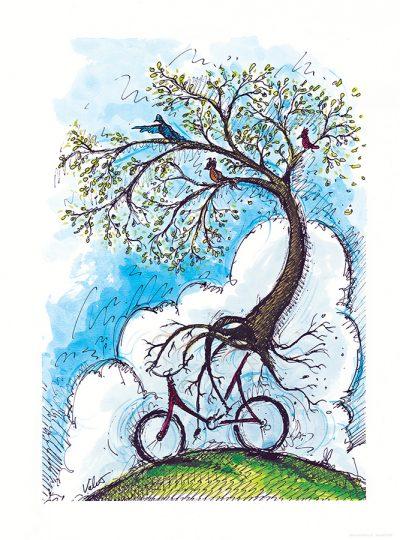 Spring Ride | Cycling Art Print