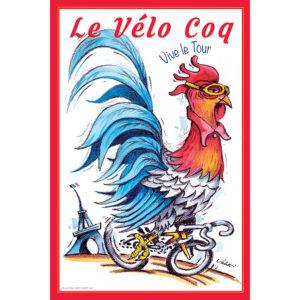 Le Vélo Coq | Cycling Art Print