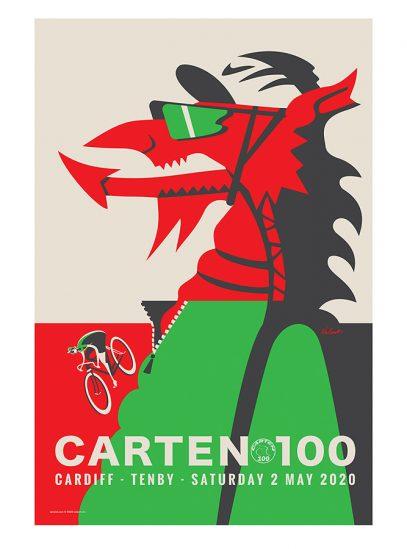 Carten 100   2020 Cycling Art Print   Valenti