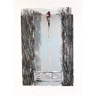 Road Closed | Original Cycling Art