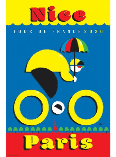 TDF 2020 Nice | Cycling Art Print | Michael Valenti