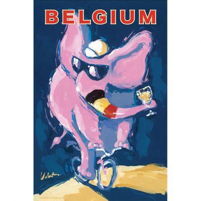 Belgium Elephant   Cycling Art Print   Valenti