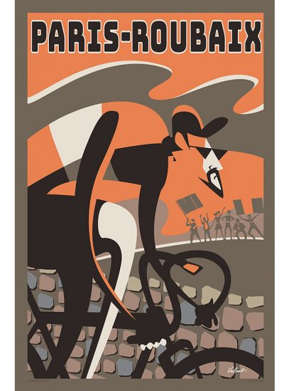 Paris Roubaix 2020 | Cycling Art Print | Valenti