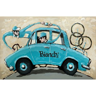Cafe Bianchi | Original Cycling Art