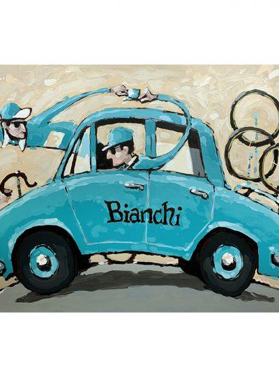 Cafe Bianchi | Cycling Art Print