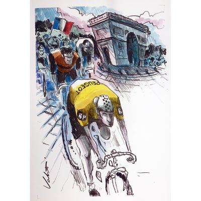 Thévenet TDF 1975 | Original Cycling Art