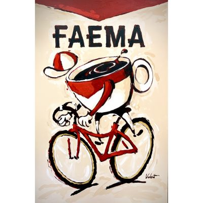 FAEMA Cup | Original Cycling Art Painting