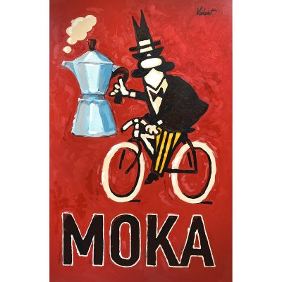 Moka Rider | Cycling Art Print