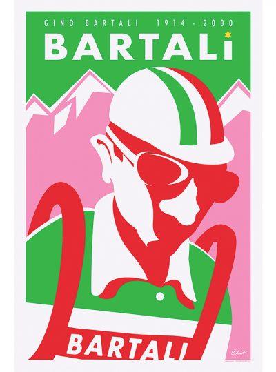 Gino Bartali Legend | Cycling Art Print | Valenti