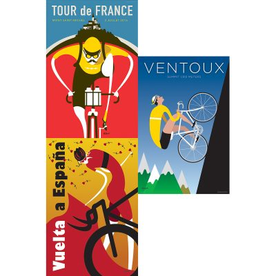 Set of Three | 12×18 Cycling Art Prints