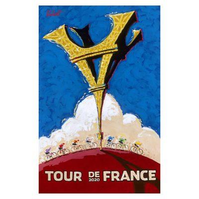 TDF 2020 | Turned Upside Down | Cycling Art Print