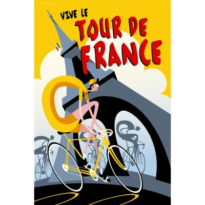Vive le Tour | Cycling Art Print