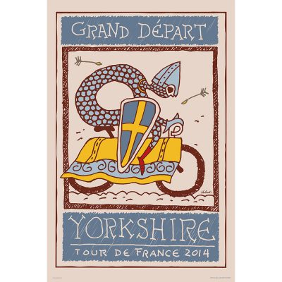 Yorkshire Grand Depart | Cycling Art Print