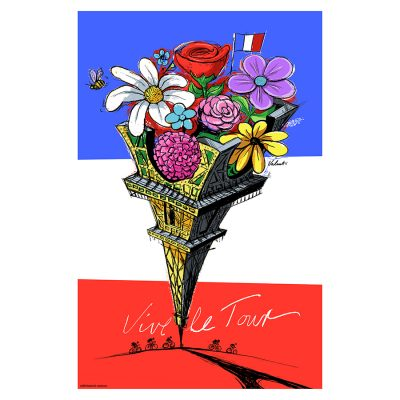 Eiffel Flower | Vive le Tour | Cycling Art Print