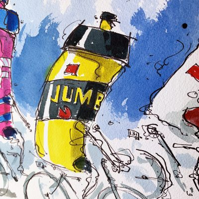 Stage 15 | Colombier | Original TDF Cycling Art