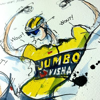 Stage 5 | Wout | Original TDF Cycling Art