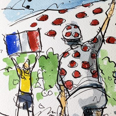 Stage 8 | French Polka Dots | Original TDF Cycling Art