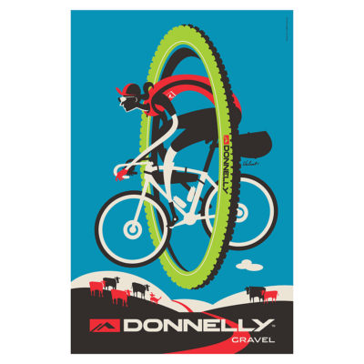 Donnelly Gravel | Cycling Art Print