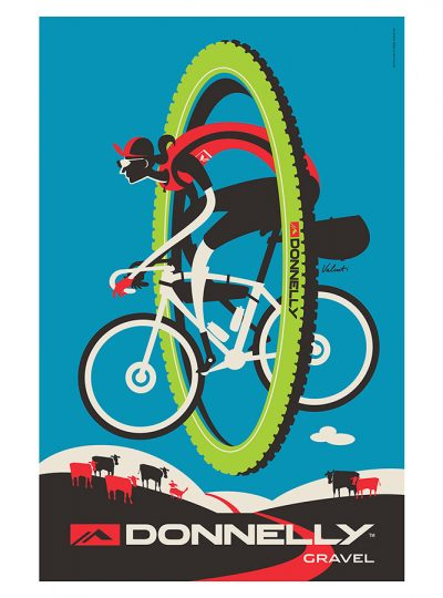 Donnelly Gravel Cycling Art Print | Valenti