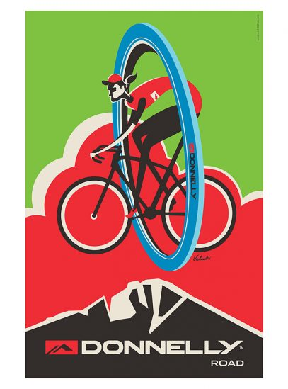 Donnelly Road Cycling Art Print | Michael Valenti