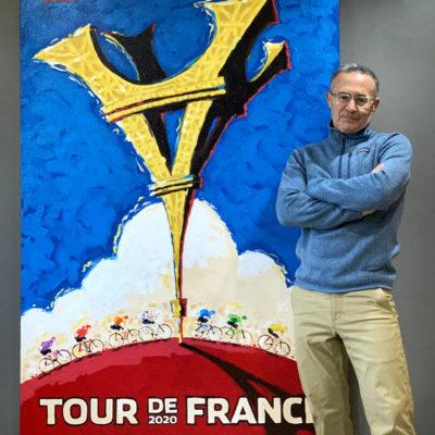Le Tour de France 2020 Turned Upside Down by Cycling Artist Michael Valenti