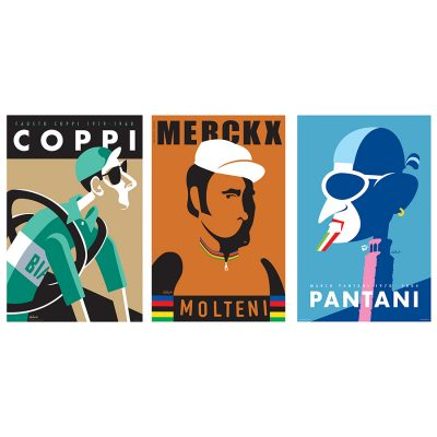 Three Legends | Cycling Art Print Set
