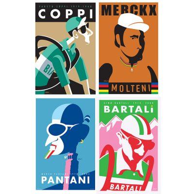 Four Legends | Cycling Art Print Set