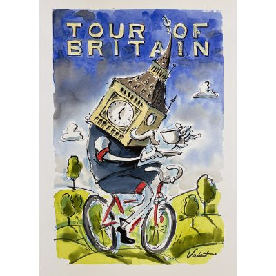 Big Ben | Original Cycling Art