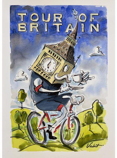 Big Ben | Original Cycling Art